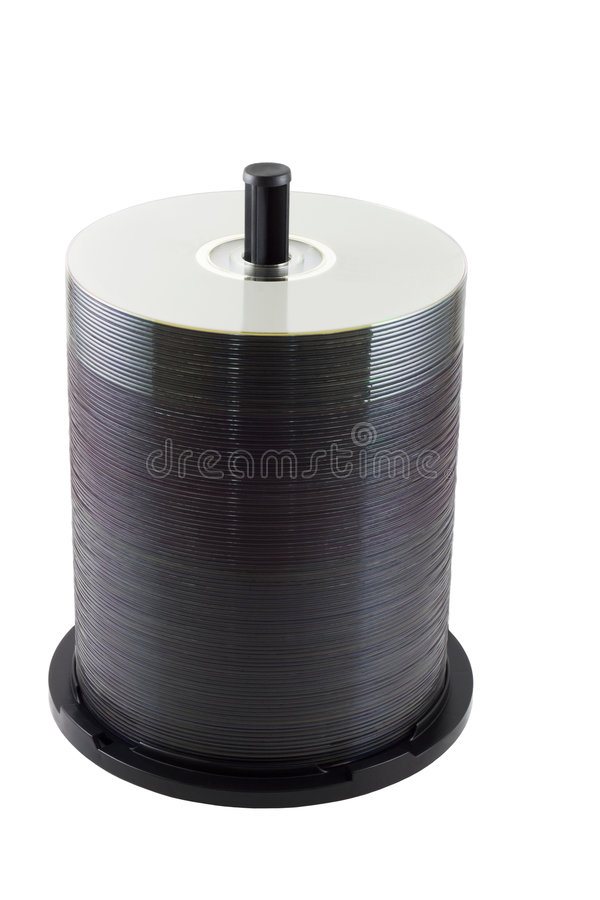 Download Spindle Of DVD Royalty Free Stock Photo - Image: 6558025