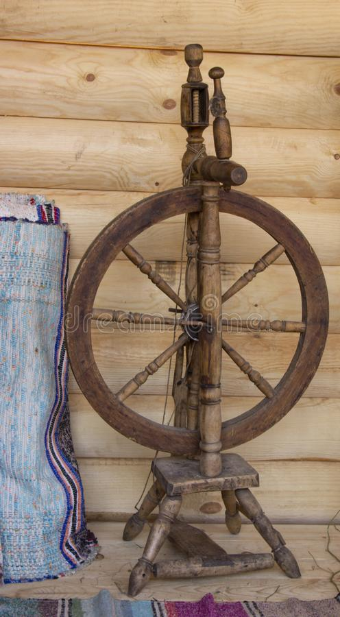 Spindle for yarn. Ancient spindle for making yarn royalty free stock images