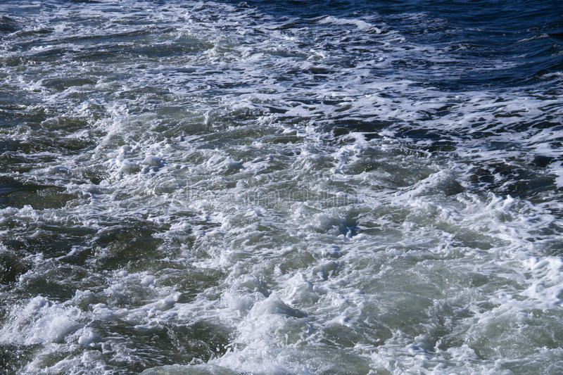 Spindrift and waterway. On north sea royalty free stock photography