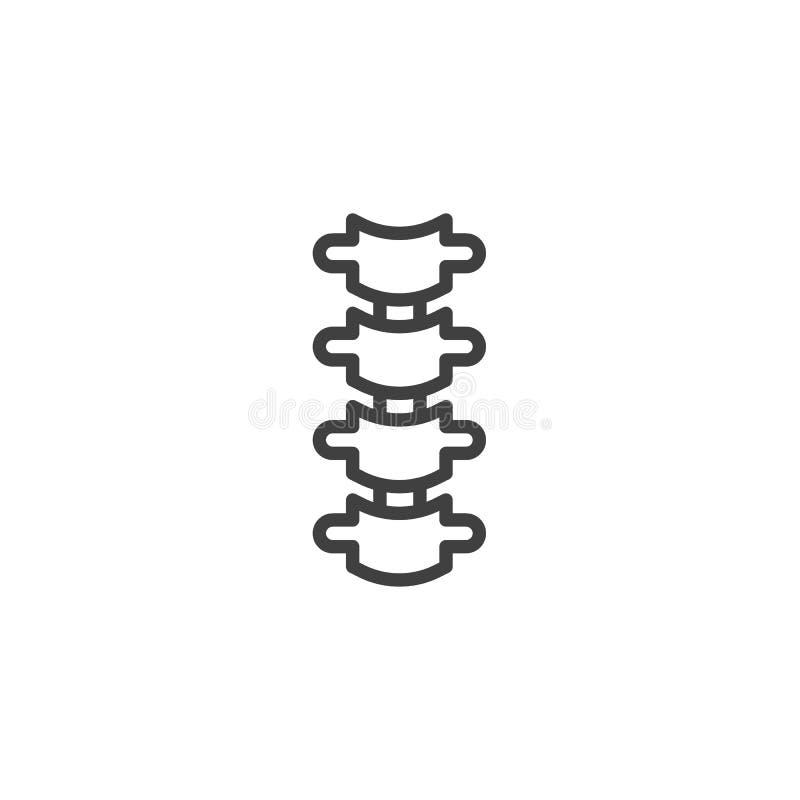 Spine Back Bone line icon. Linear style sign for mobile concept and web design. Spine bone outline vector icon. Symbol, logo illustration. Vector graphics stock illustration