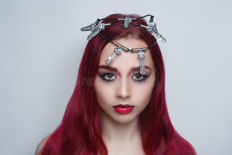 Spine della corona della donna immagini stock libere da diritti