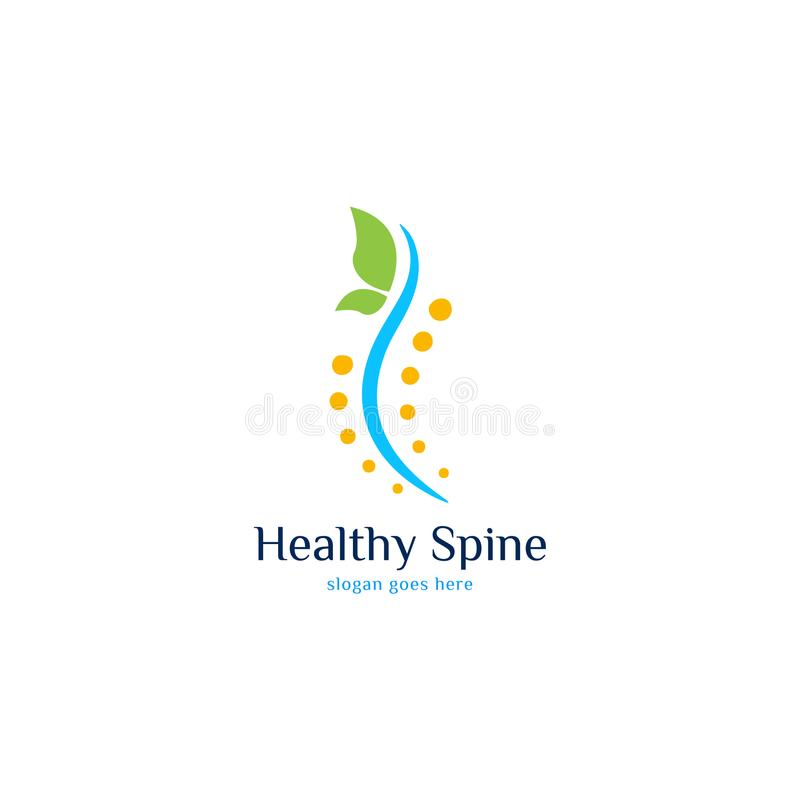 Spine Logo vector art. Template for business royalty free illustration