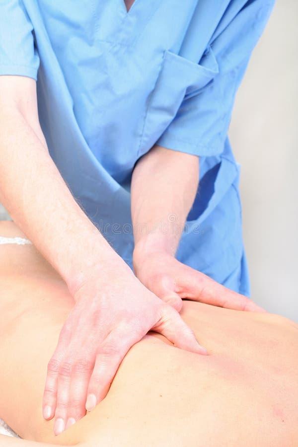Spine Massage Close-up Stock Image