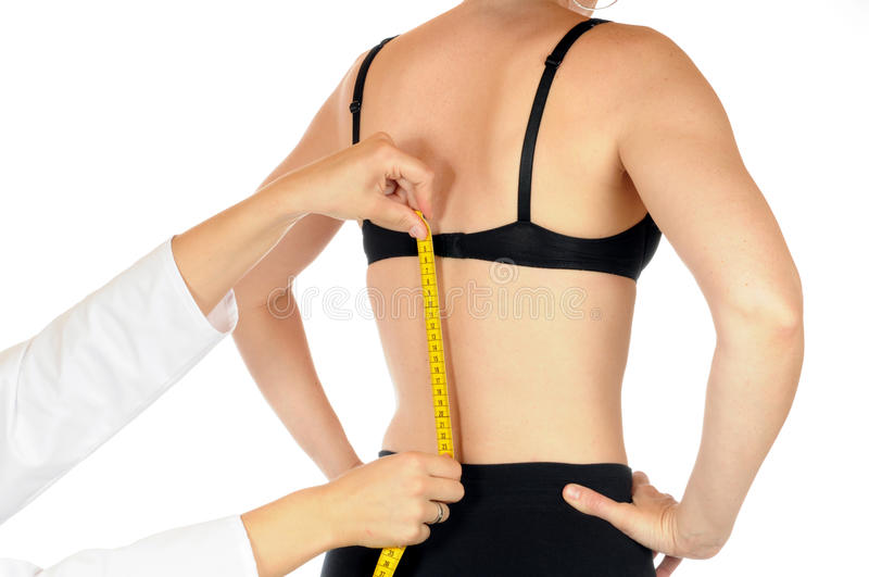 Spine measuring stock images