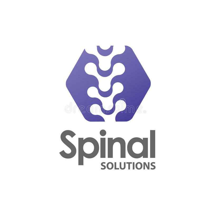 Spine medical logo. Medicine and anatomy, spinal,backbone and scoliosis stock illustration