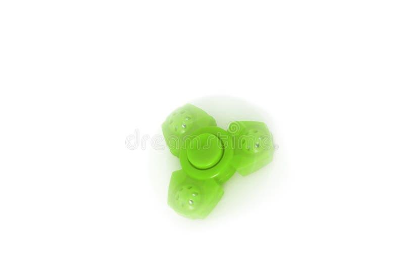 Spiner verde em um fundo branco fotografia de stock royalty free