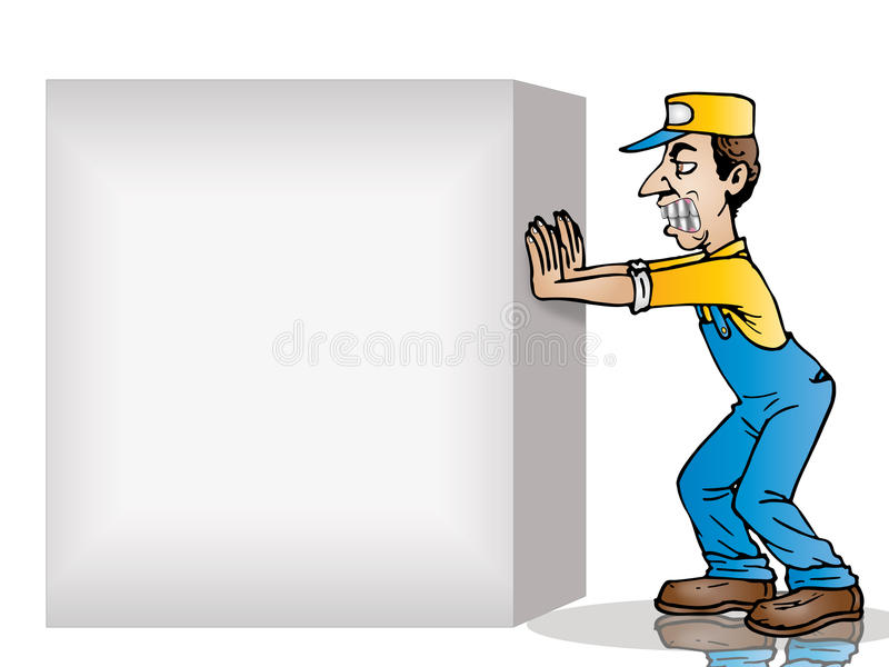 Spinga la casella in bianco illustrazione di stock