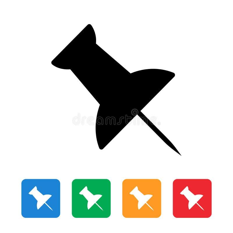 Spinga la progettazione piana dell'icona del perno illustrazione di stock
