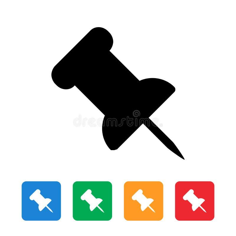 Spinga la progettazione piana dell'icona del perno illustrazione vettoriale