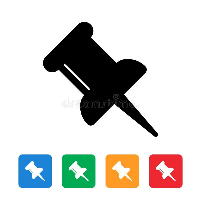 Spinga la progettazione piana dell'icona del perno royalty illustrazione gratis