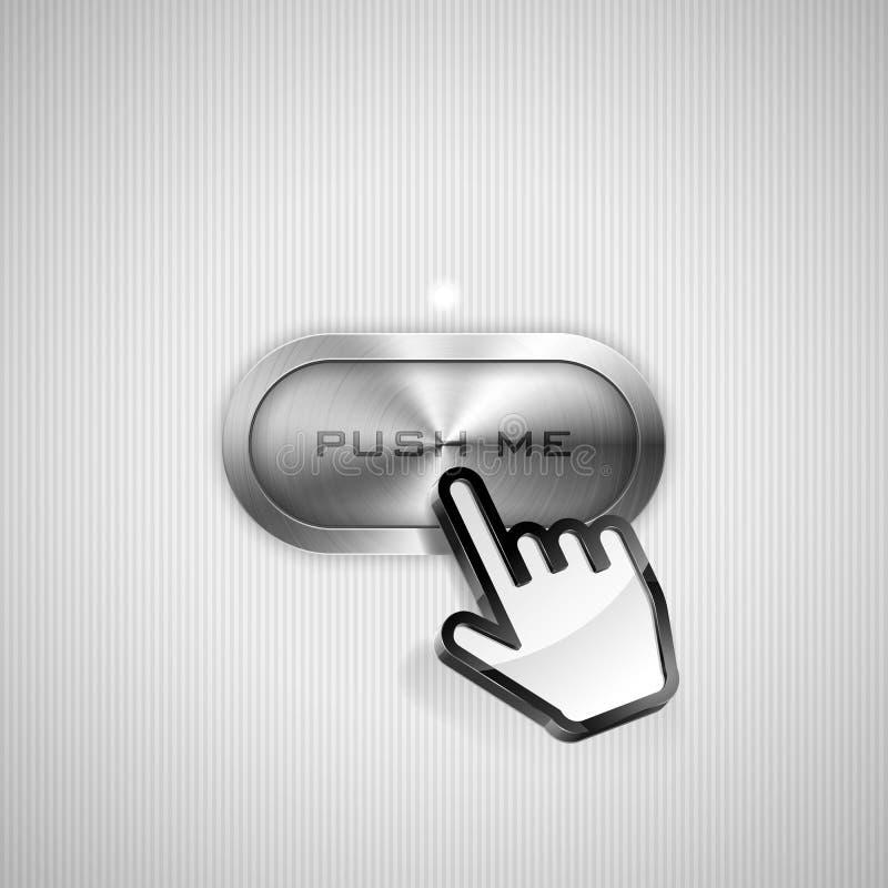 Spingami bottone illustrazione di stock