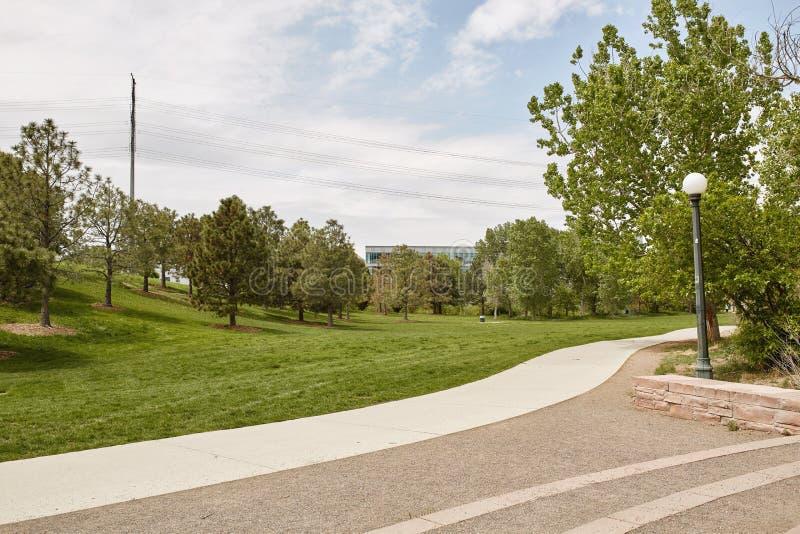 Spingtime на парке в Денвер, Колорадо стечения стоковая фотография