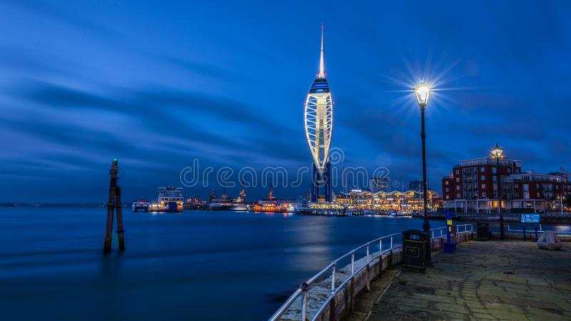 Spinnaker Tower Blues stock image
