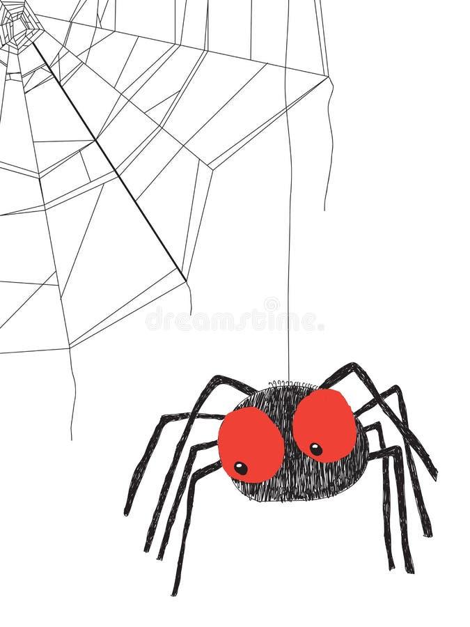 Spinne stock abbildung