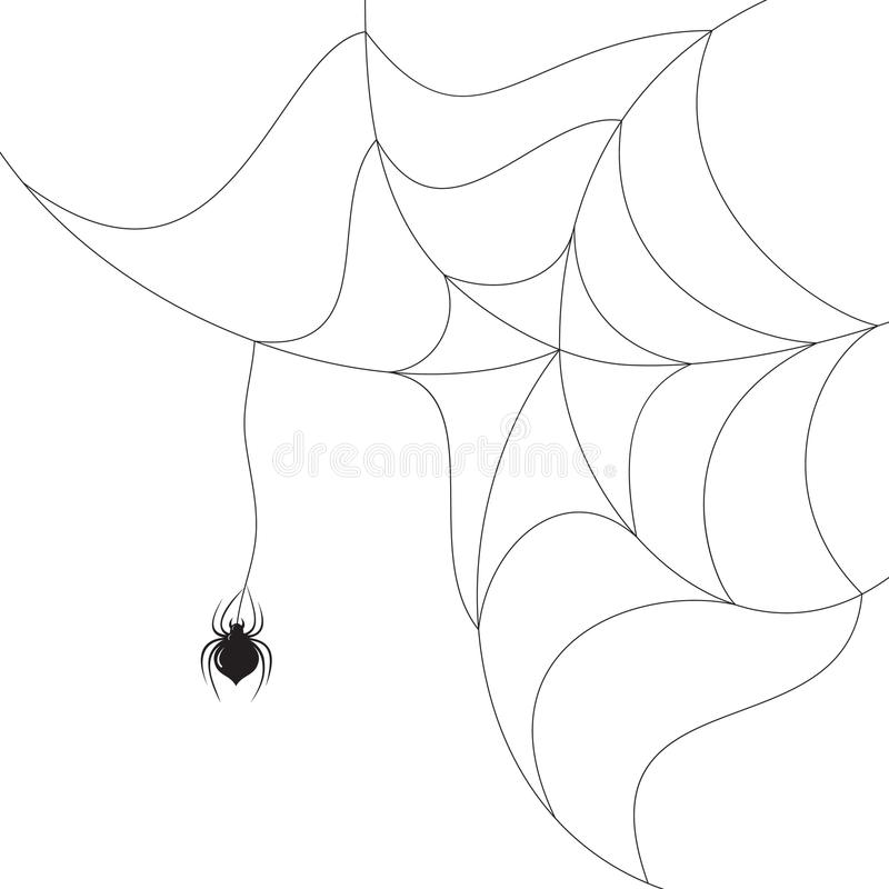 Spinne auf dem Web vektor abbildung