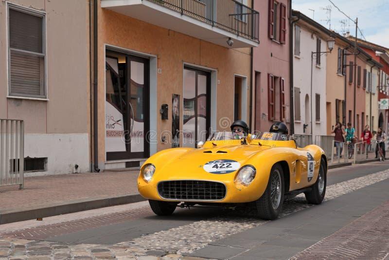 Spinne Scaglietti 1956 Ferraris 500 TR in Mille Miglia 2017 stockfoto
