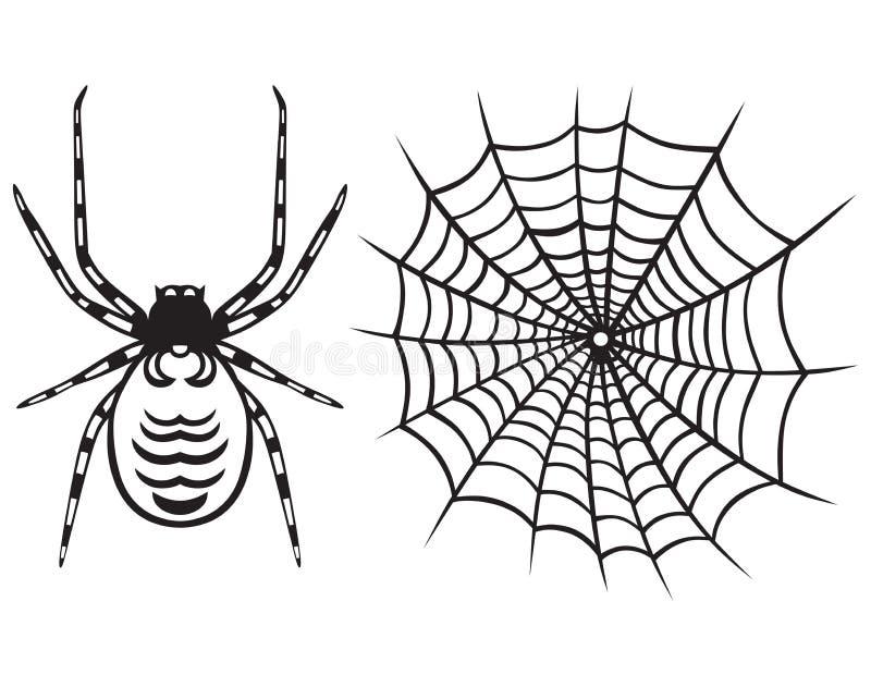 Spinne und Netz vektor abbildung