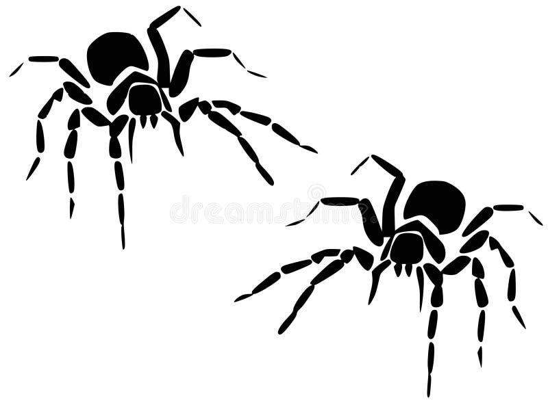 Spinnen royalty-vrije stock afbeelding