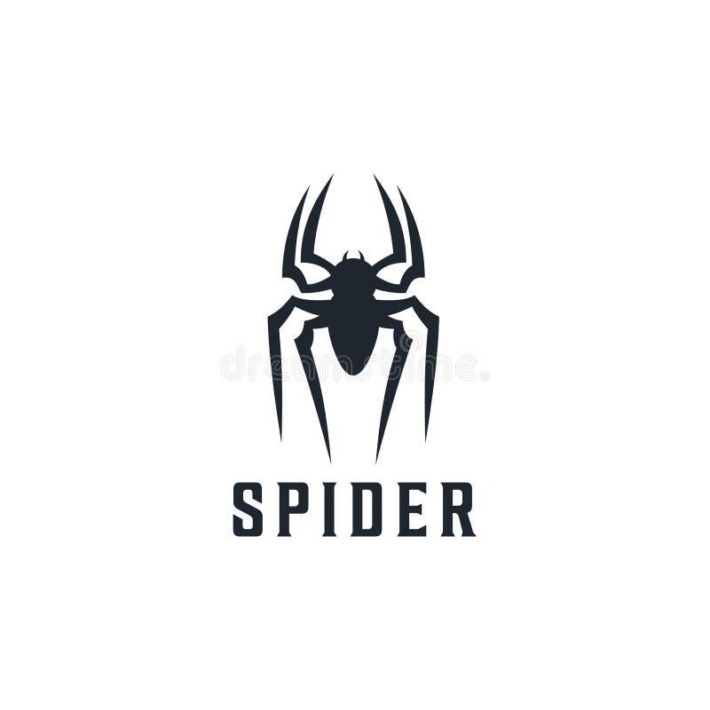 Spinnen-Ausweislogoentwurfs-Inspiration Illustration stock abbildung