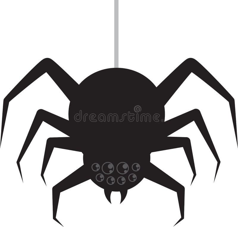 Spinnen-Hängen lizenzfreie abbildung