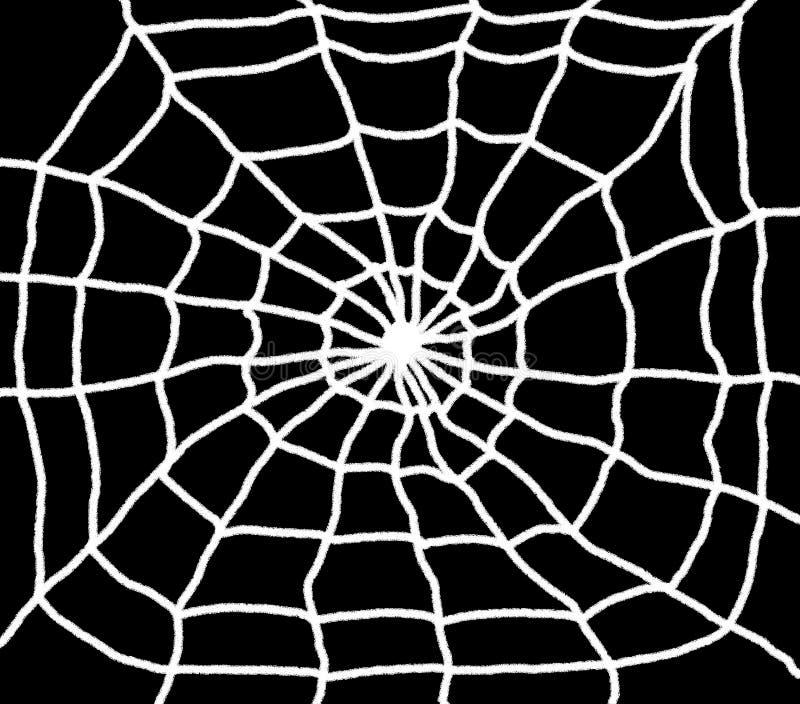 Spinnen-Netz-Illustration lizenzfreie abbildung