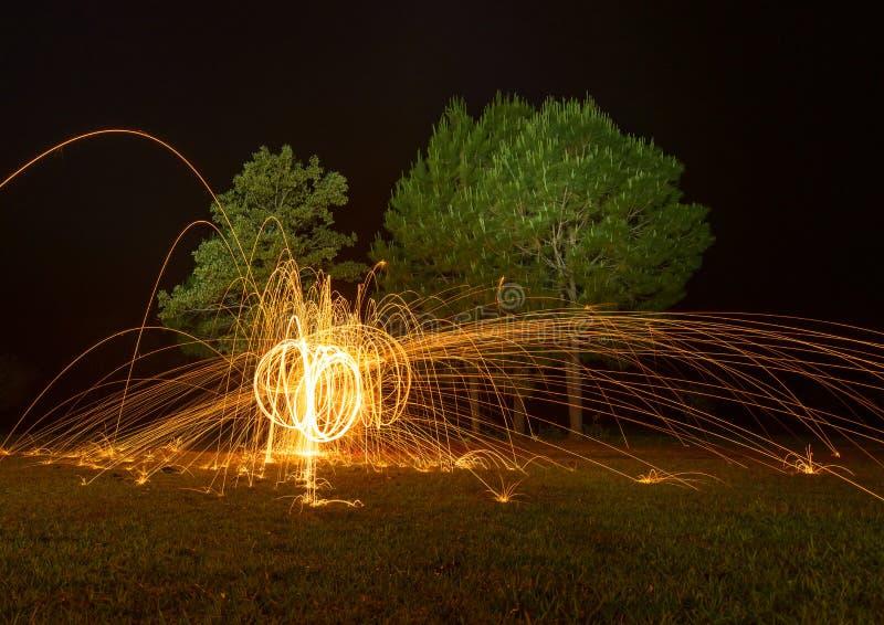 Spinnende brand stock foto's