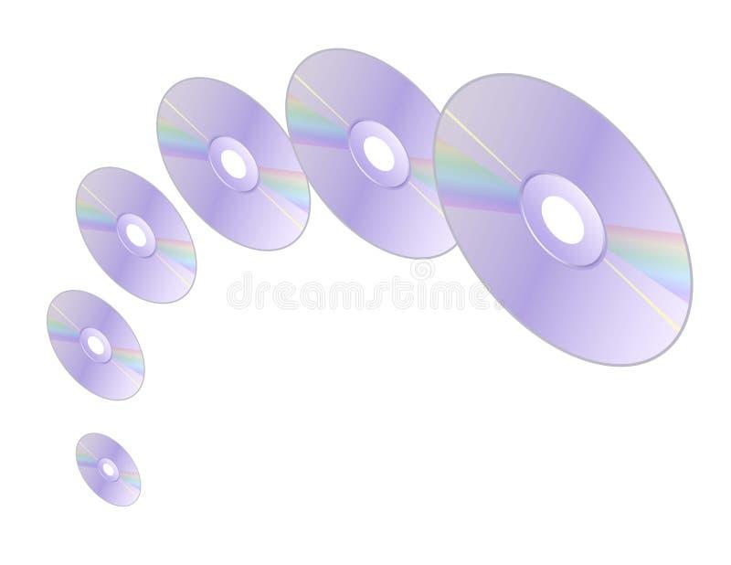 Spinnende CDs vector illustratie