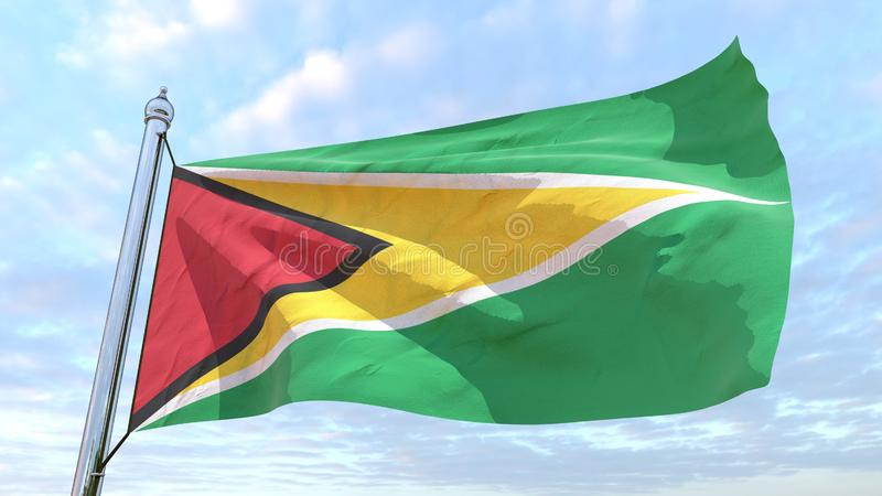 Spinnende Landesflagge Guyana lizenzfreie abbildung