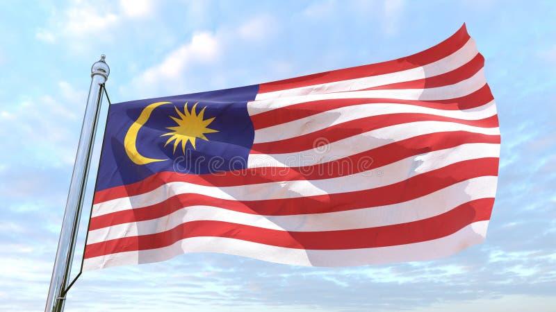 Spinnende Landesflagge Malaysia lizenzfreies stockfoto