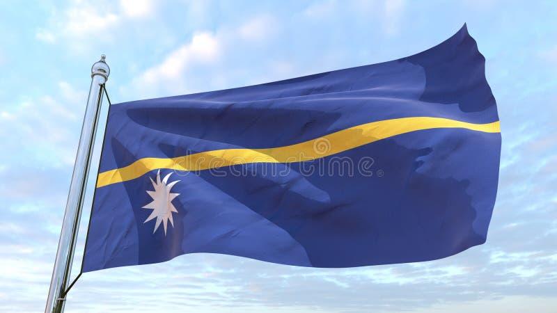 Spinnende Landesflagge Nauru stock abbildung