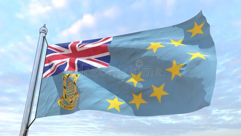 Spinnende Landesflagge Tuvalu vektor abbildung