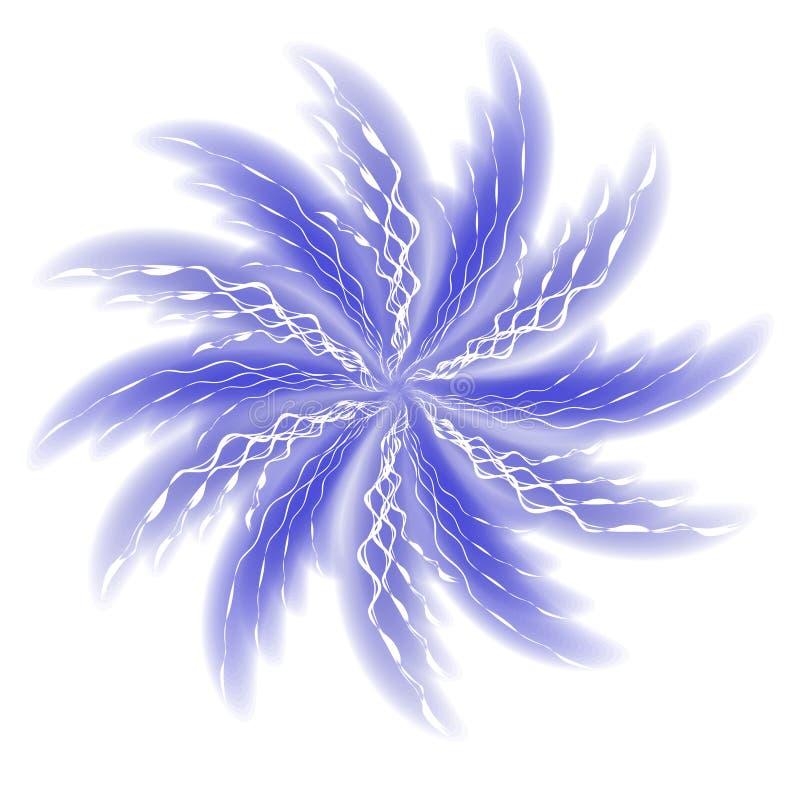 Spinnende wirbelnde blaue Spiralen lizenzfreie abbildung