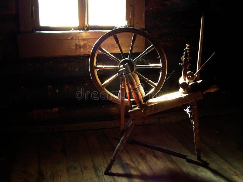 Spinnendes Rad stockfoto