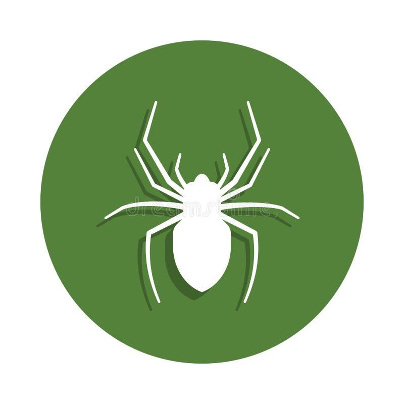 Spinnenikone in der Ausweisart Ein der Insektensammlungsikone kann für UI, UX verwendet werden vektor abbildung