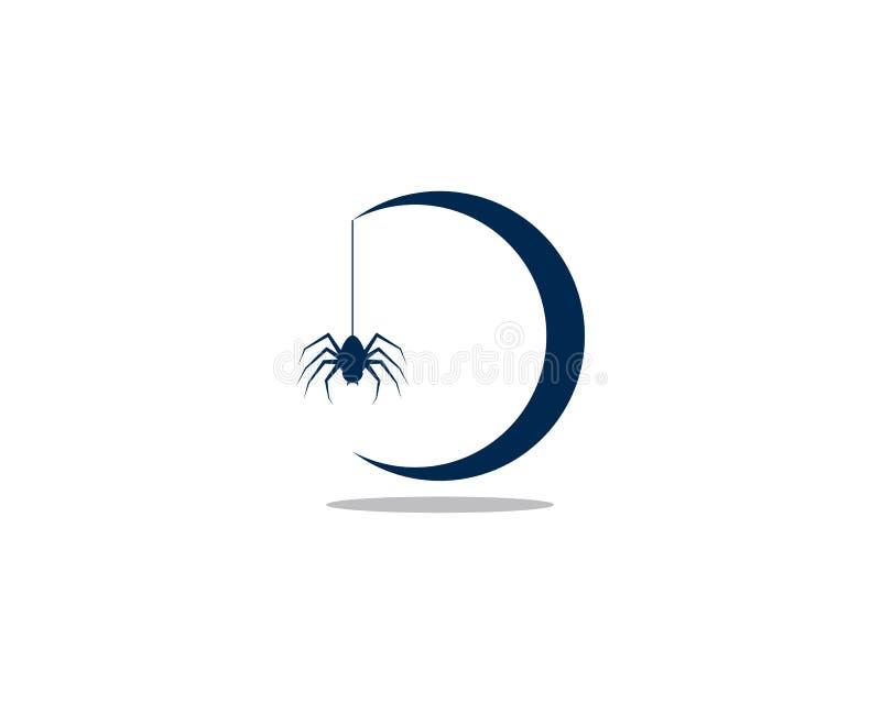 Spinnenlogoschablone vektor abbildung