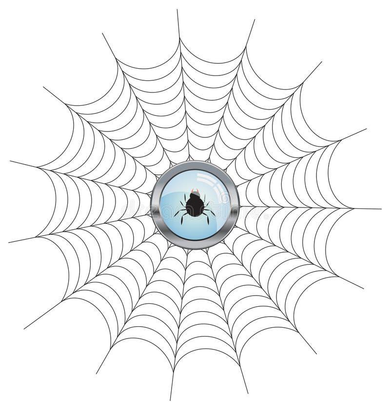 Spinnennetz stock abbildung