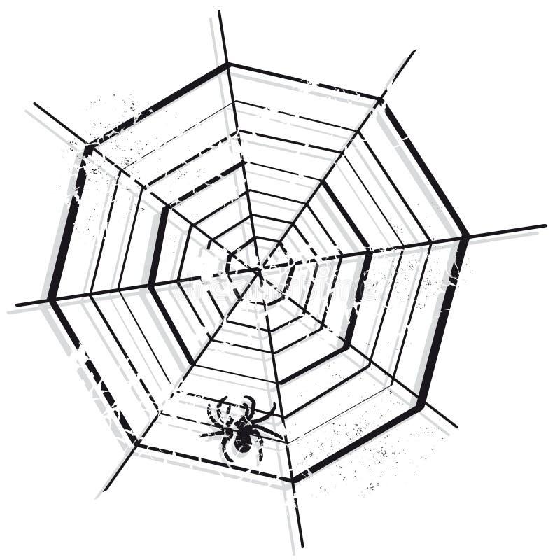 Spinnennetz vektor abbildung