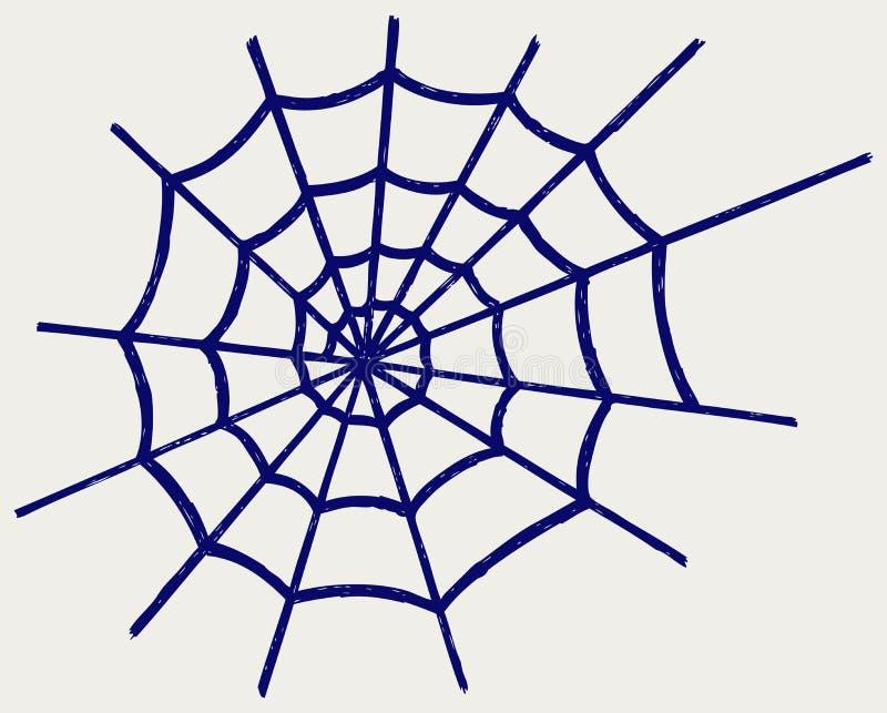 Spinnennetz lizenzfreie abbildung