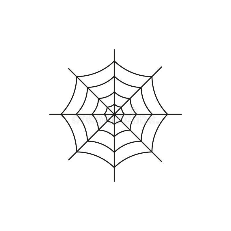 Spinnennetz der Ikonenwanze gefährlich vektor abbildung