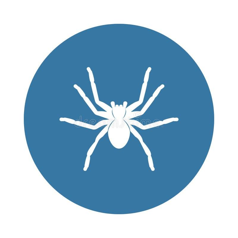 Spinnentarantelikone Element von Insektenikonen für bewegliche Konzept und Netz apps Ausweisartspinnen-Tarantelikone kann für ben stock abbildung
