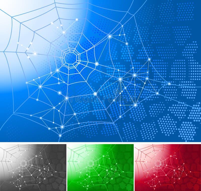 Spinnenweb. vektor abbildung