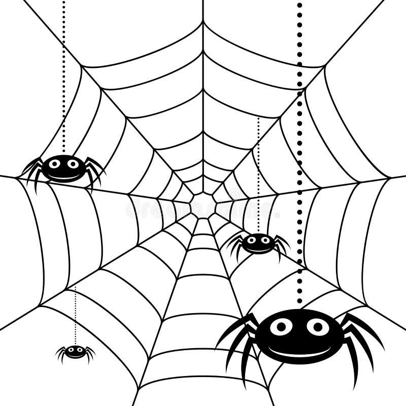 Spinnenweb stock abbildung