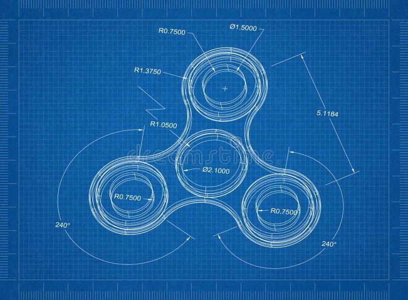 Spinner-Architektenplan stock abbildung