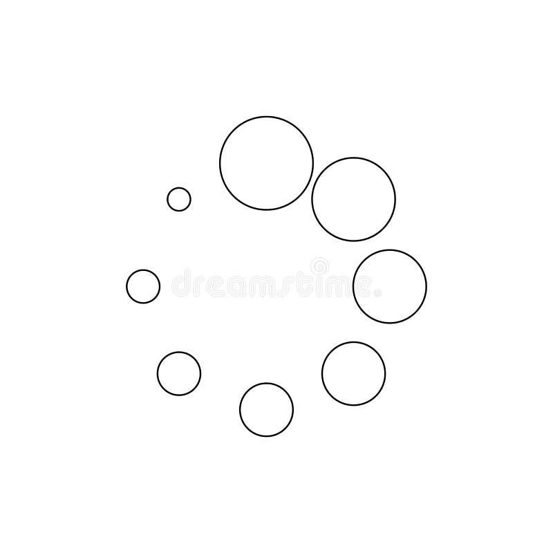 Spinner der Punktentwurfsikone Zeichen und Symbole k?nnen f?r Netz, Logo, mobiler App, UI, UX verwendet werden vektor abbildung