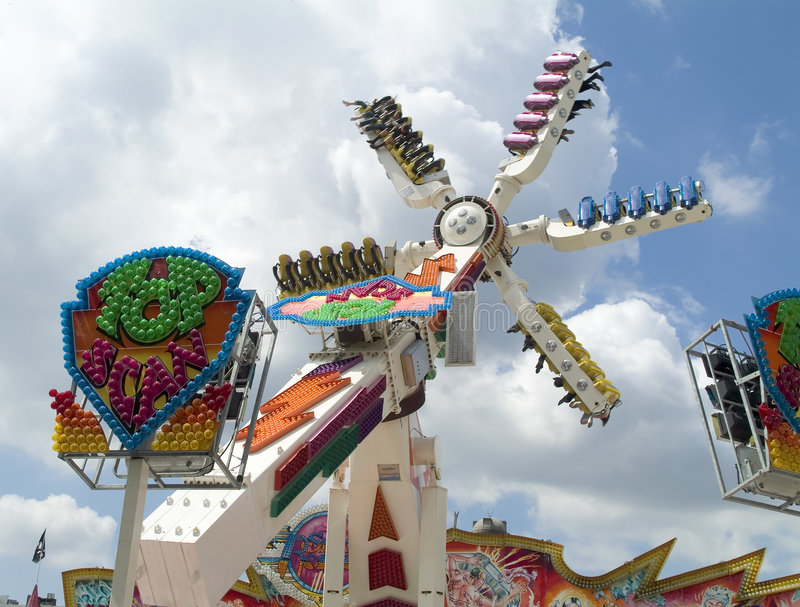 Spinner am Funfair stockfoto