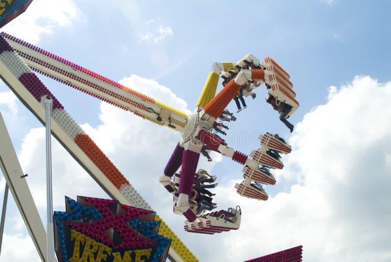 Spinner am Funfair stockfotografie