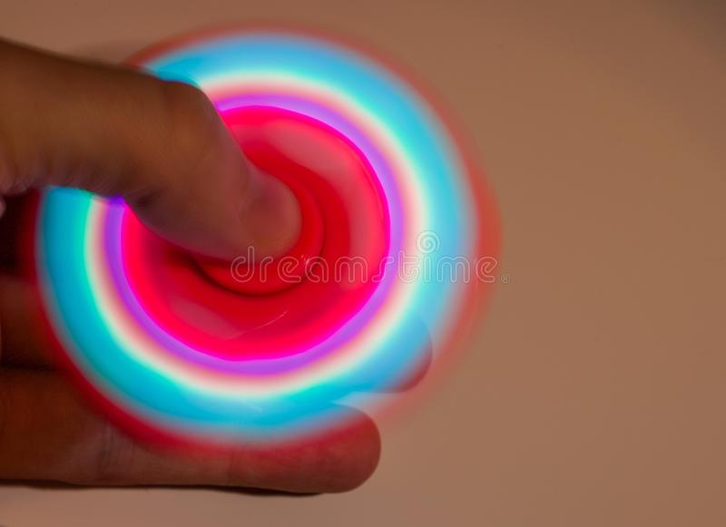 Spinner. In hand stock images