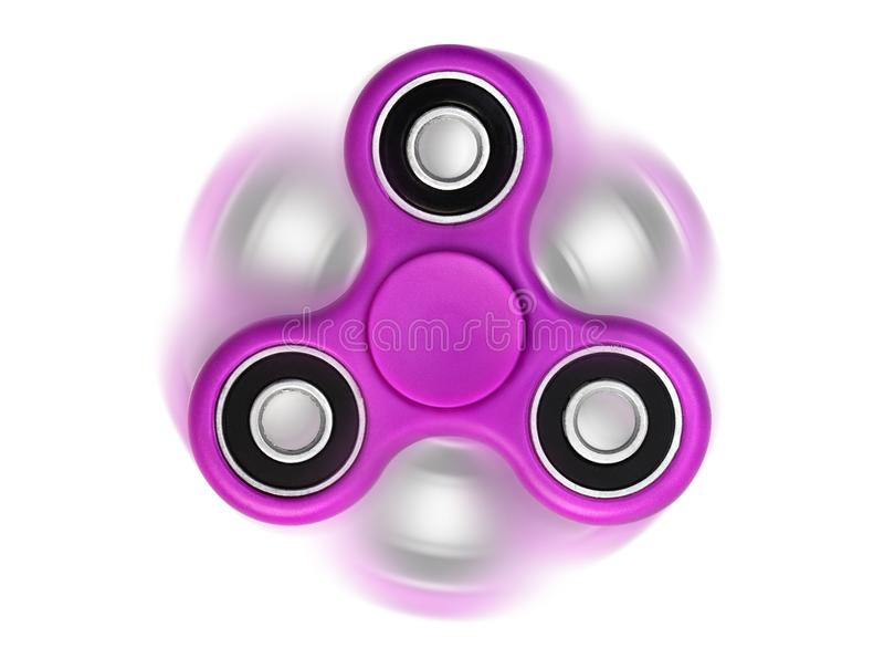 Spinner. Spinning moving rolling spinner isolated on white background stock photography
