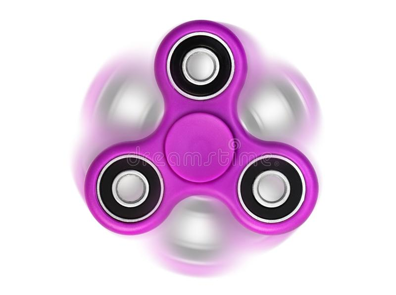 Spinner. Spinning pink spinner isolated on white background royalty free stock image