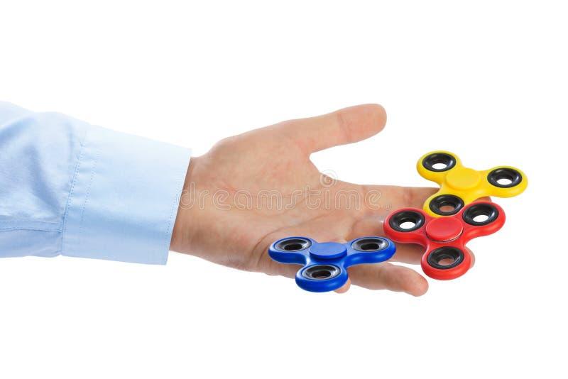 Spinners ter beschikking stock afbeelding